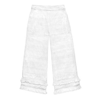 Janie Fringe Embroidered Pants