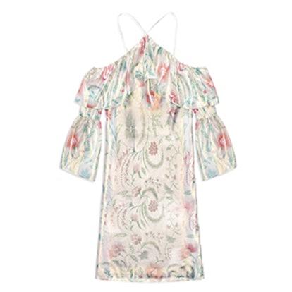 Lucille Metallic Ruffled Mini Dress