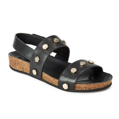 Pia Studded Leather Gladiator Sandals