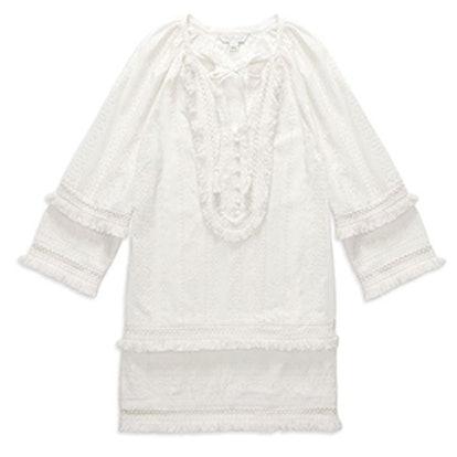 Abigail Fringe-Detail Mini Dress