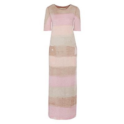Tie-Dyed Stretch Cotton-Blend Jersey Maxi Dress
