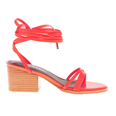 Tabitha Heeled Ankle-Tie Sandals