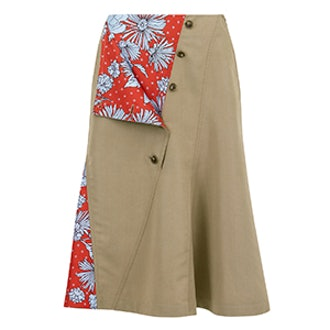 Twill Trench Skirt