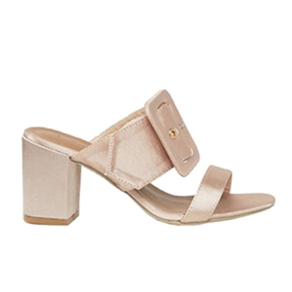 Buckle Mid Heeled Mules