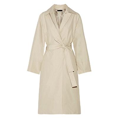 Trentz Cotton-Blend Poplin Trench Coat