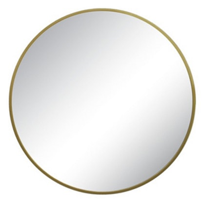 Threshold Round Decorative Wall Mirror Brass