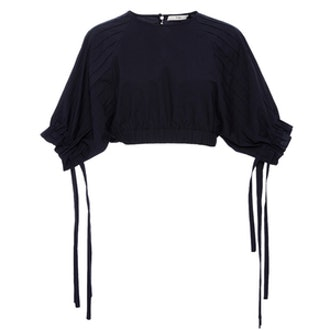 Seamed Cropped Shirt