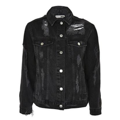 PETITE Extreme Ripped Denim Jacket