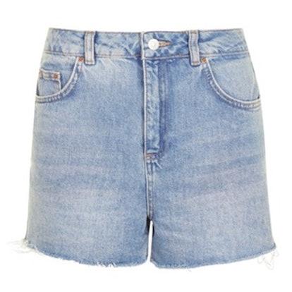 Moto Kiri Frill Hem High Side Shorts