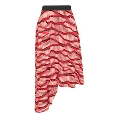 Matchstick Asymmetrical Midi Skirt
