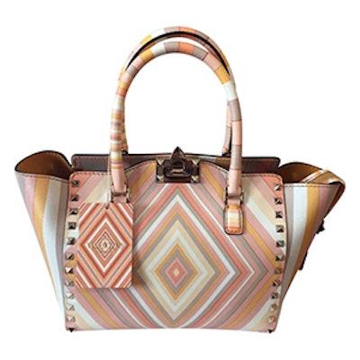 Rockstud Leather Handbag