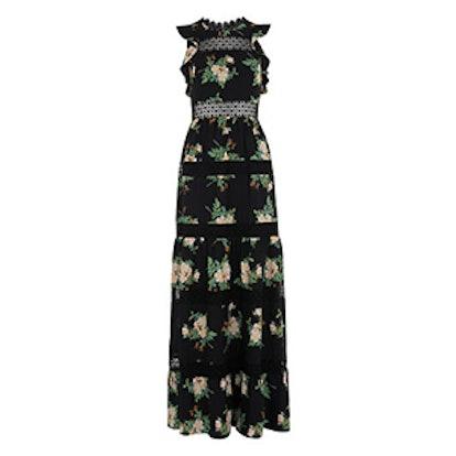 Brianna Lace Insert Maxi Dress