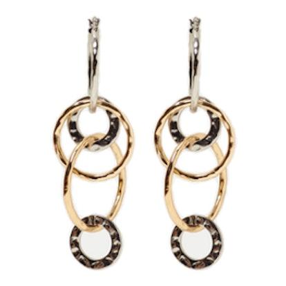 Contrasting Hoops Earrings