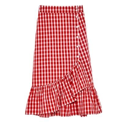 Gingham Frilled Skirt