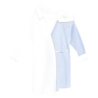 Contrasting Shirt Dress With Cut-Out Collar
