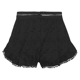 Caravan Pompom-Trimmed Broderie Anglaise Cotton Shorts