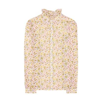 Floral-Printed Cotton Shirt