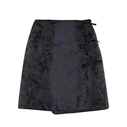 Mini Bow Jacquard Mini Skirt