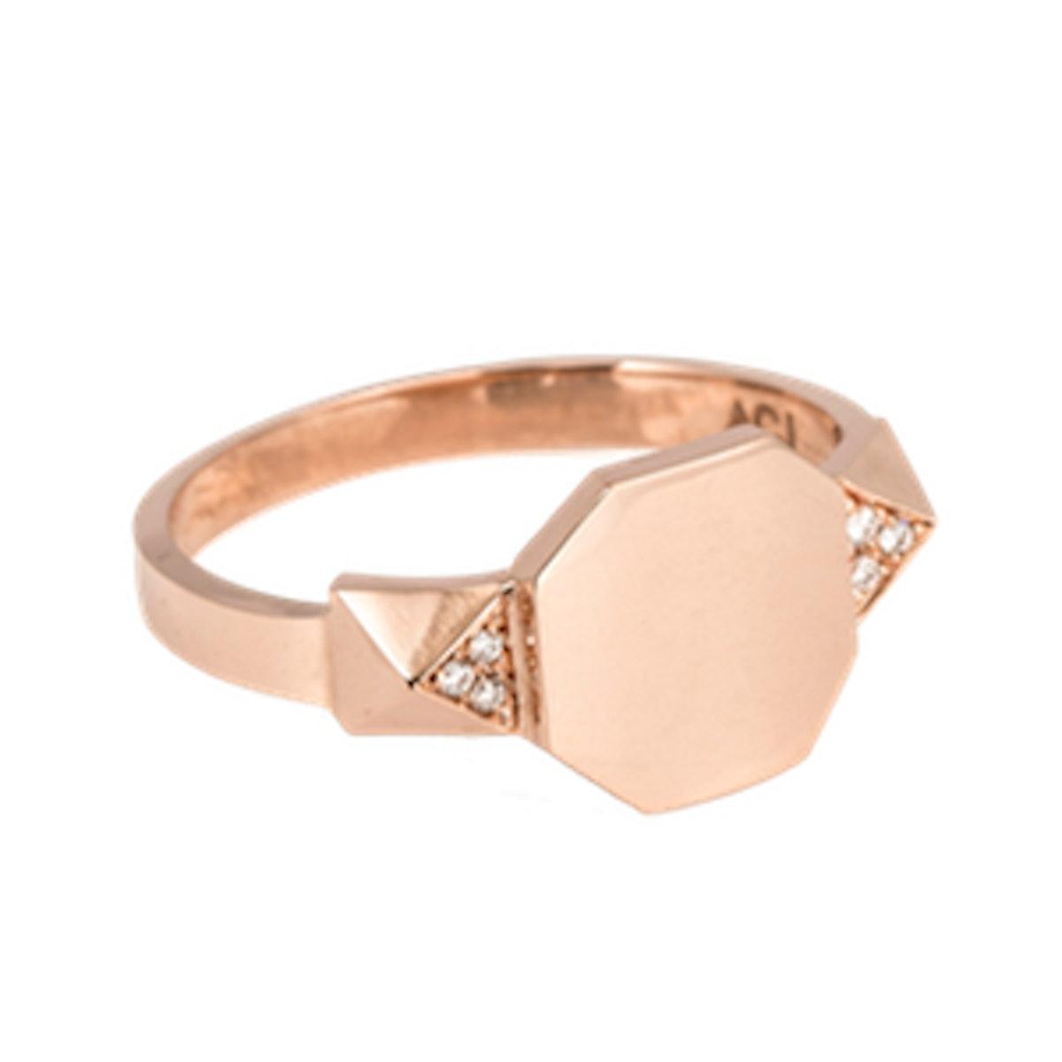 Signet Pyramid Ring