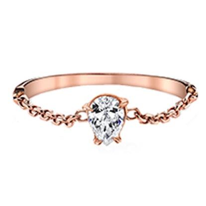Pear Diamond Chain Ring