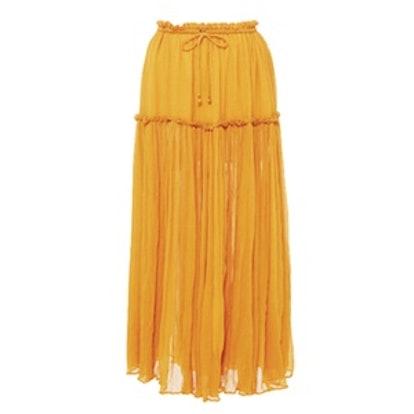 Dulce Accordian Midi Skirt