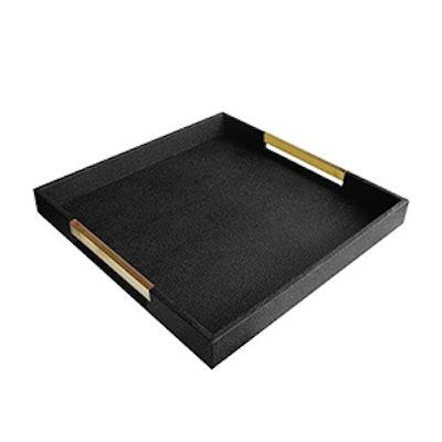 Goldtone Handle Decorative Tray
