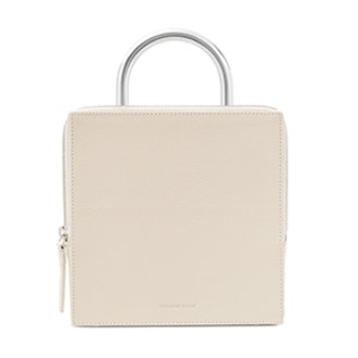 Box Textured-Leather Tote