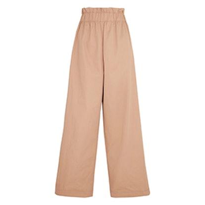 Phillips Cotton Wide-Leg Pants