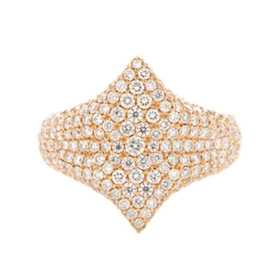All Diamond Adina Signet Ring