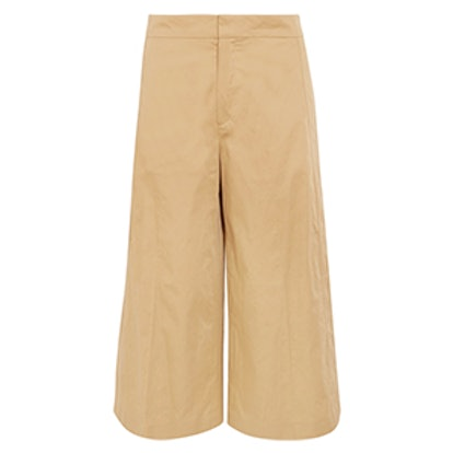 Fitz Cropped Cotton Wide-Leg Pants