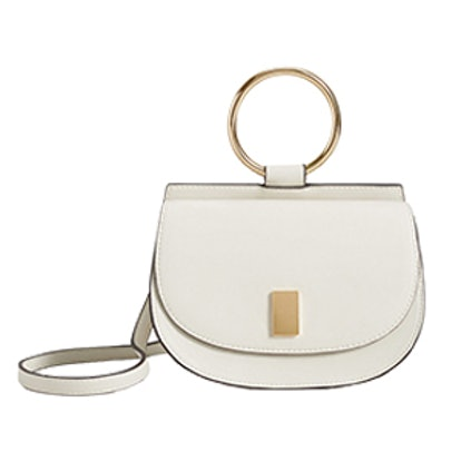 Metallic Handle Shoulder Bag