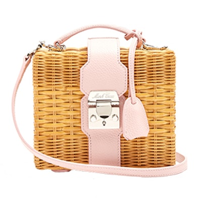 Harley Rattan And Leather Cross-Body Bag