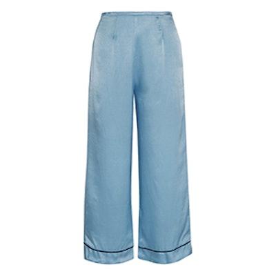 Pietro Cropped Satin Wide-Leg Pants