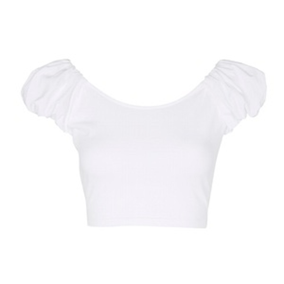 Bubble Sleeve Cropped Top