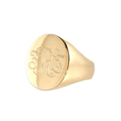 14K Large Signet Ring