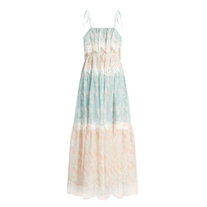 A Bohemian Romance Cotton-Blend Dress