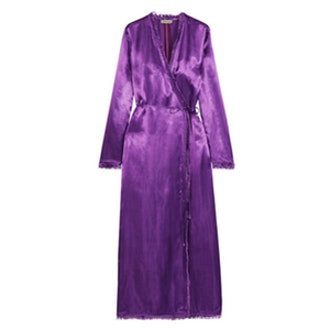 Raquel Frayed Satin Maxi Dress