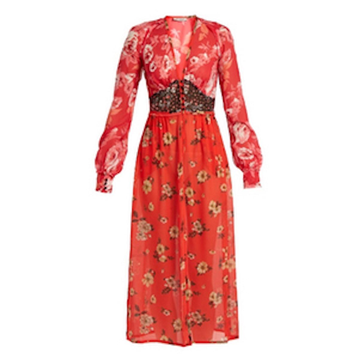 Beatriz Floral-Print Silk-Georgette Dress