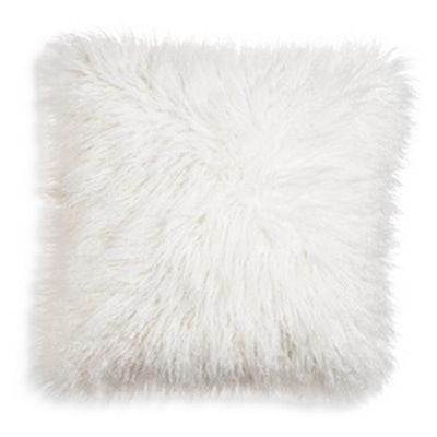 Xhilaration Cream Mongolian Faux Fur Throw Pillow