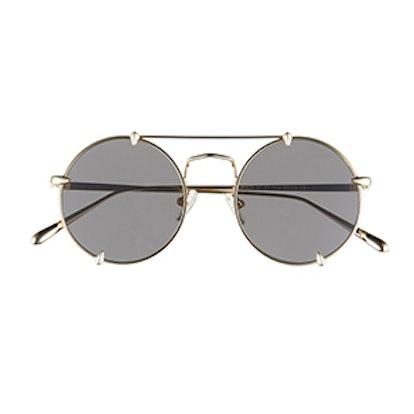 Pico Round Browbar Sunglasses