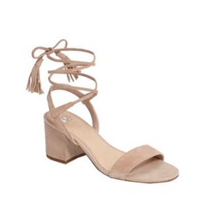 Karla Block Heel Ankle Wrap Sandal