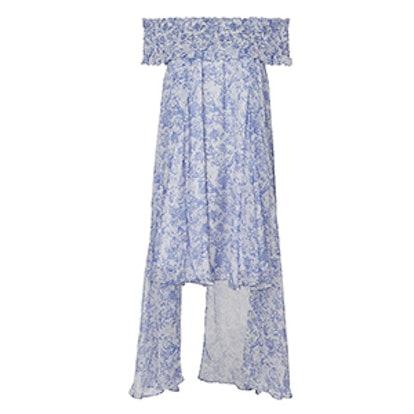 Areadne High-Low Off Shoulder Dress