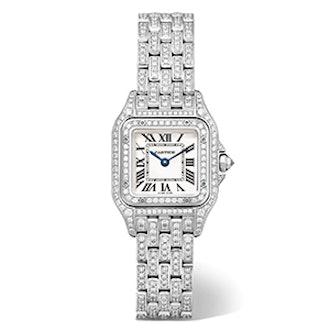 Panthère de Cartier Small 18-karat Rhodiumized White Gold Diamond Watch