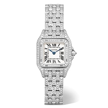 Panthère de Cartier Small 18-karat Rhodiumized White Gold Diamond Watch