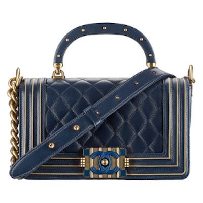 Boy Handbag With Handle in Navy Blue
