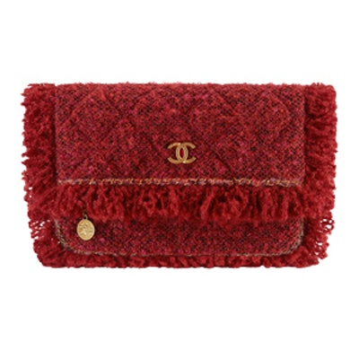 Tweed Clutch in Red