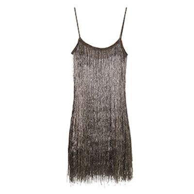 Della Metallic Fringe Mini Dress