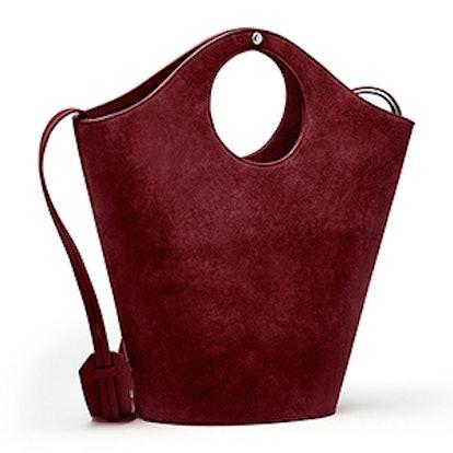 Market Suede Shopper Tote Bag