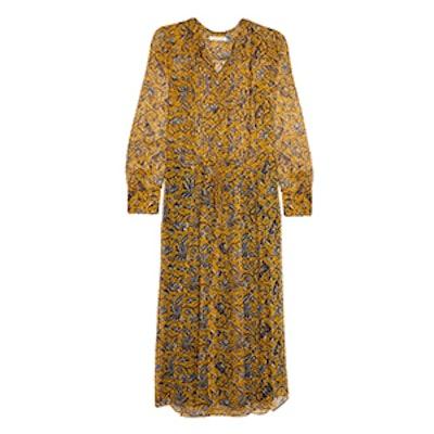 Baphir Printed Silk Midi Dress