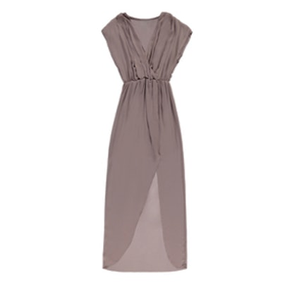 Pretty By Rory Chiffon Maxi Dress in Mauve